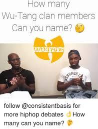 Wu Tang Meme - how many wu tang clan members can you name pos stc follow for more