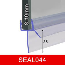 bath shower door seal seal044 for 8 10mm glass gaps to 35mm