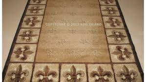 Fleur De Lis Kitchen Rugs Awesome Fleur De Lis Area Rugs Round Braided Broyhill China Within