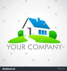 house construction company logo house logo real estate company stock vector 262965440