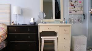 Tall Vanity Stool Makeup Vanity White Simple Vanity Makeup Dressing Table With