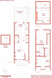 Narrow Townhouse Floor Plans 122 Best Floor Plans Images On Pinterest Architecture Small