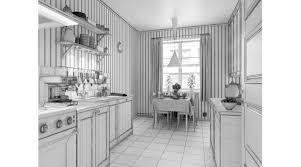scandinavian kitchen 3d library 3d scenes interior architecture
