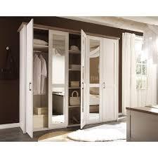 Schlafzimmerschrank Mit Aufbauservice Schlafzimmer Luca Pinie Weiß Kleiderschrank 5trg Mit Spiegel