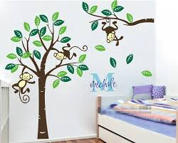compare prices on custom large stickers online shopping buy low large 1 9m high personalized name monkey tree wall art stickers kids nursery vinyl decals customized