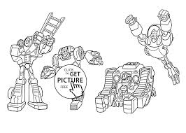 rescue bots coloring pages kids printable free coloing