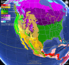 North America Climate Map by