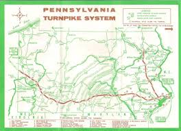 Pennsylvania State Parks Map by 1950 U0027s Pennsylvania State Road Maps