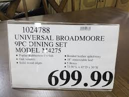 Dining Room Sets Costco by Universal Broadmoore 9pc Dining Set At Local Costco Warehouse Ymmv