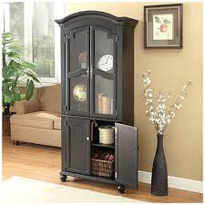 Living Room Cabinets With Glass Doors 72 Black Cabinet With Glass Door At Big Lots Great For Either The