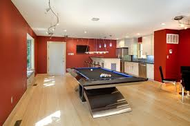 Pool Table Ceiling Lights Best Home Pool Table Family Room Contemporary With Recessed