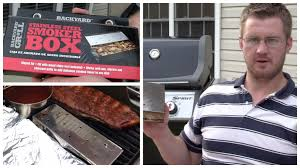 Backyard Gas Grill by Backyard Grill Smoker Box Review Youtube