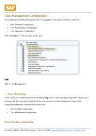 time management configuration in sap hcm sample
