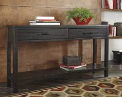 Ashley Sofa Table by Ashley T780 4 Jazzlyn Contemporary Brown Finish Two Drawer Sofa Table