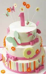 Butterflies And Flower 1st Birthday Cake Scrumptions