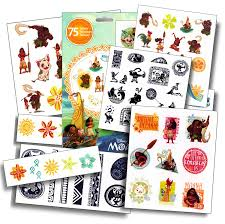 amazon com disney moana tattoos 75 assorted temporary tattoos