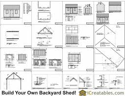 Floor Plans For Sheds 10x16 Colonial Shed Plans Icreatables Sheds