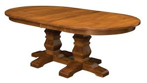 pedestal dining room table amish double pedestal dining room table made in america