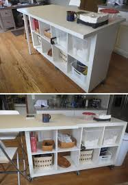 Kitchen Island Wheels by Ikea Hacks Marble Table Shelve Seat Shelve On Wheels Extendable