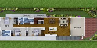 Narrow Block Floor Plans Bella Casa Constructions Narrow Block Designs