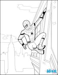 coloring pages spiderman lyss