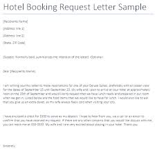 hotel booking request letter writing professional letters