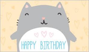 free digital birthday cards gangcraft net happy birthday cat card gangcraft net