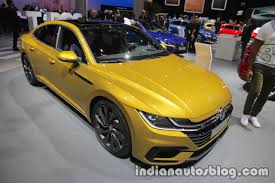 vw arteon r line showcased at iaa 2017 live