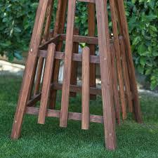 outdoor garden trellis obelisk triangle patio yard wood accent