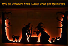 how to decorate your garage door for halloween