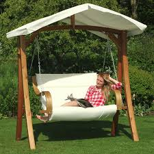 outdoor swing hammock with canopy backyard