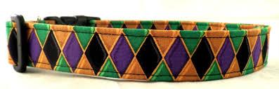 dog collar mardi gras chevron mardi gras harlequin purple green gold and black dog collar mardi