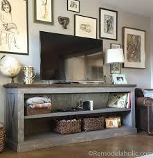 how to build a tv cabinet free plans build a tv stand or media console with these free plans farmhouse