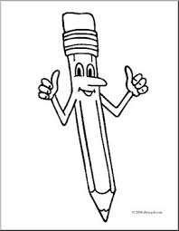 pencil coloring pages clip art cartoon two thumbs up pencil coloring page i abcteach