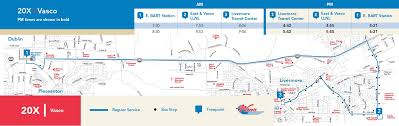 Dublin Bart Map by Route 20x Map Wheelsbus