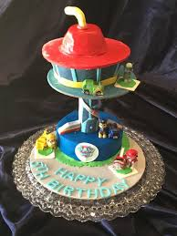paw patrol lookout cake decorations tutorial