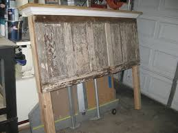 Headboard Made From A Door Bedroom Extraordinary For How To Make Headboard And Footboard