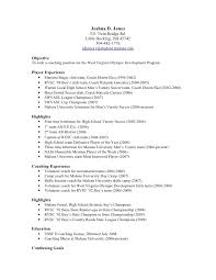 college soccer recruiting resume template best resumes curiculum