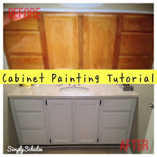 bathroom vanity makeover u2013 cabinet painting tutorial simplyschulze