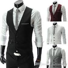 2018 vests outerwear mens vest casual suits slim fit stylish