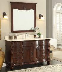 Antique Looking Bathroom Vanity Adelina 60 Inch Antique Style Bathroom Vanity Marble