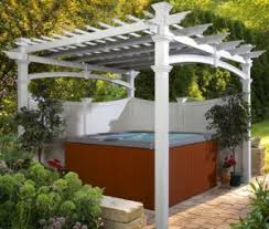 White Vinyl Pergola by Two Styles Of White Vinyl Pergola Kits Outdoor Room Ideas