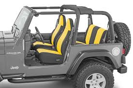 charcoal grey jeep rubicon quadratec diver down neoprene seat covers for 97 06 jeep wrangler