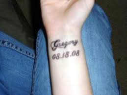 trend tattoos name tattoos on wrist