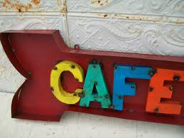 Decorative Wall Art by Rustic Metal 3d Cafe Sign Decorative Wall Art