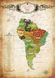 Maps South America by Baldwins South American Herb Map Download U0026 Share Botanica