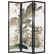 handmade wood and rice paper landscape shoji screen china free