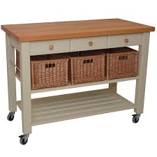 kitchen island trolleys eddingtons lambourn three drawer grey kitchen trolley