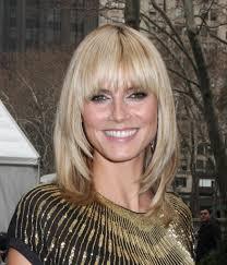 popular medium layered bob hairstyles with bangs cute women