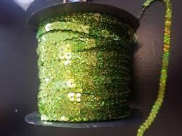 seq on string sequin 5mm hologram lime green sequin dressmaking